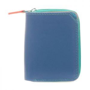 Small Zip Wallet Aqua front