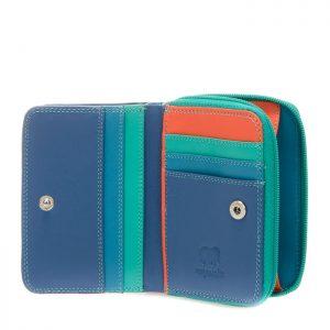 Small Zip Wallet Aqua